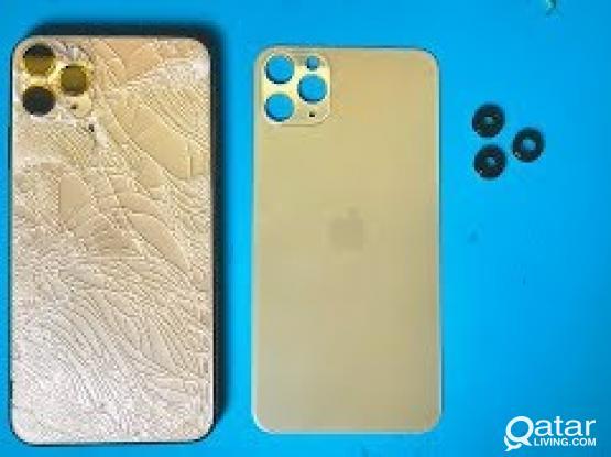 We change iphone borken back part very carefully.