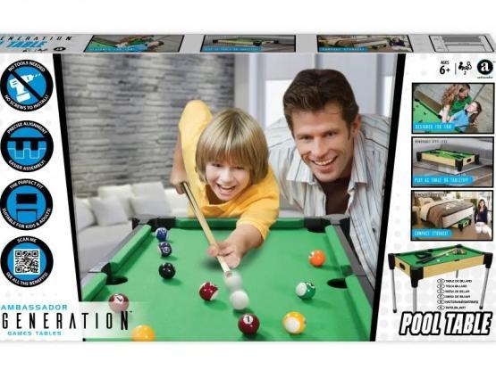Pool Table - Billiards-Board for Sale - Brand New - Ambassador Games Table Original