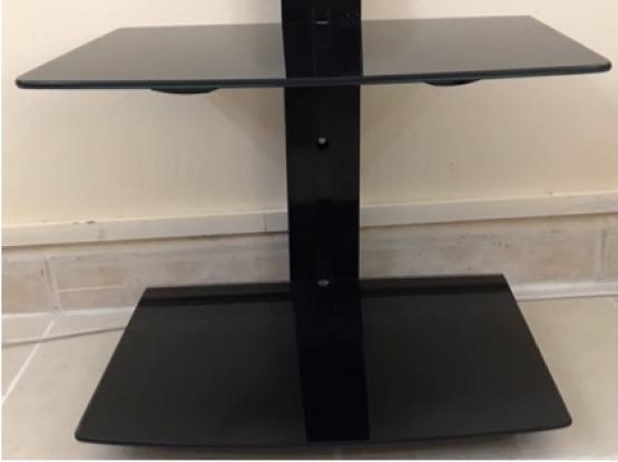 Tempered Glass Shelves Bracket  Cable Management