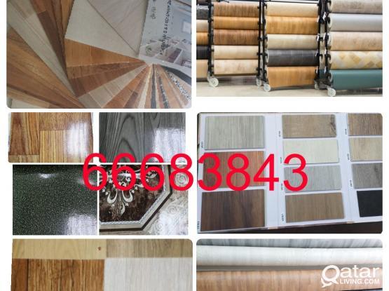 """Plastic Parquet PVC Plastic Vinyl  Flooring Mate  Sales And Fixing.  """" 66683843 """" """""""