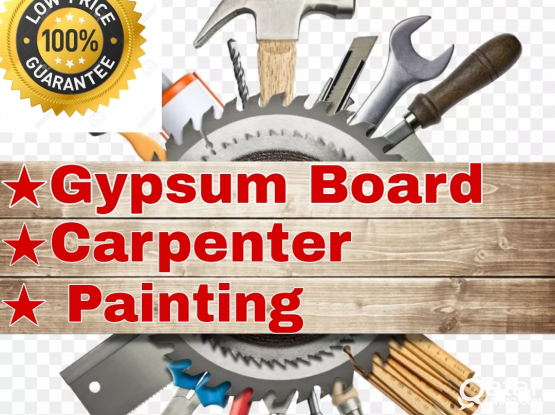 Gypsum Partition-Carpenter-painting for low price.