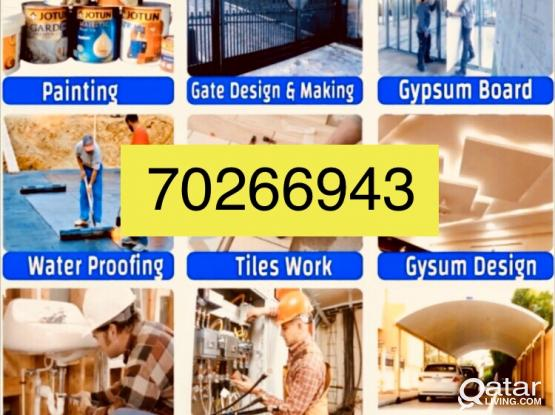 Electric plumbing call=70266943 cctv gypsum partition painter electrician plumber all building maint