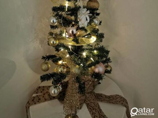 Christmas tree with ornament and lights