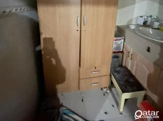 Cup Board, Dining Table, Gas Stove, Cylinder, Tread Mill, TV