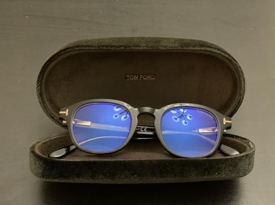 Tom Ford Optical Frame With Blue Block Lenses