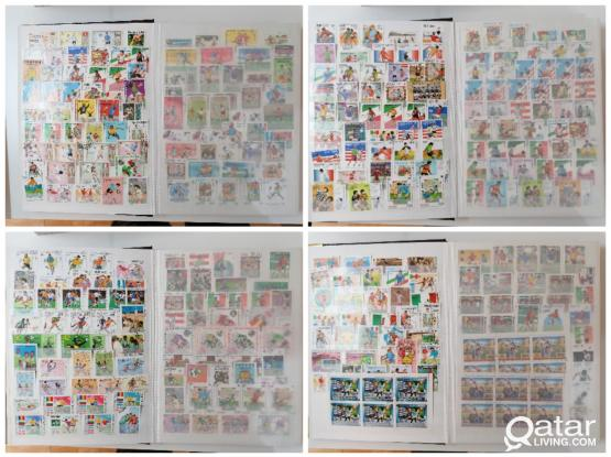 world wide football theme stamps more than 1100pcs with perfect album(32pages)