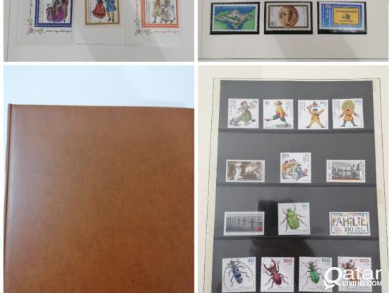 Germany Deutsche bundespost  1982-94 stamps with 60pages album.