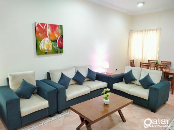 2 BR F/F with brand new furniture free Wi-Fi and gym (Bin omran) behind green mosque
