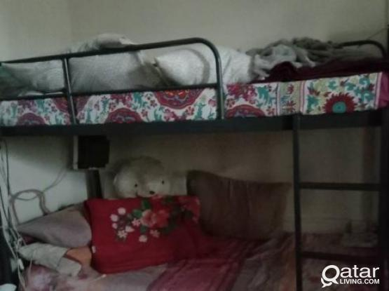 Bed space  available in aziziya in front of new family shopping complex