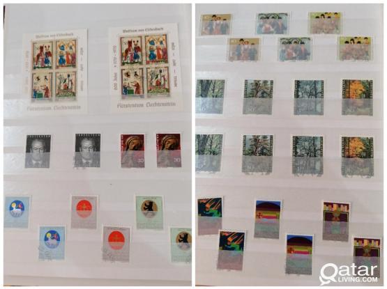 760pcs+8block Liechtenstein stamps with perfect album