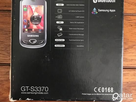 Samsung GT- S3370 Mobile With Accessories