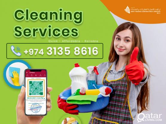 Professional Female Cleaners - Affordable Rates  (+974 3135 8616)