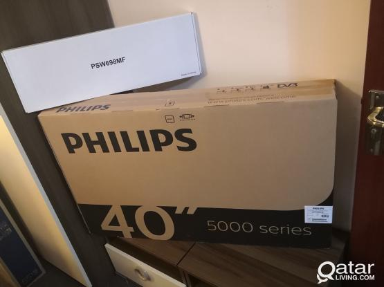 NEW SEALED PHILIPS 40 INCH FULL HD LED TV WITH ONE YEAR WARRANTY (NOT SMART)
