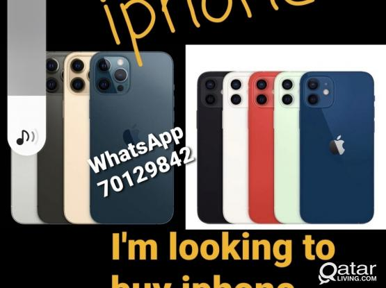 //I'm looking to buy iphone 12 / pro/ max .. (please WhatsApp if your selling...)