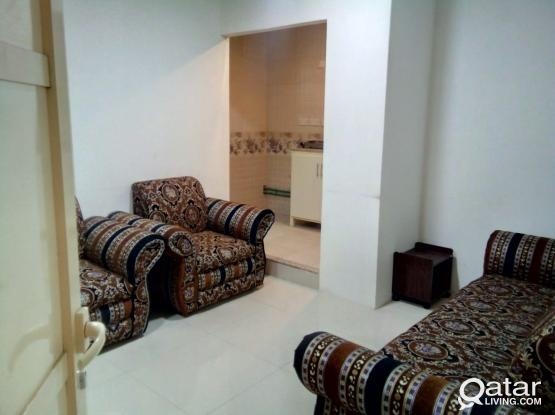 Hot Offer Free Fully Furnished 1 Bedroom and Hall with 1 bathroom Free Water Electricity in Najma
