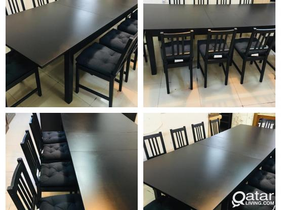 For sell ikea Extendable table with 10 chair