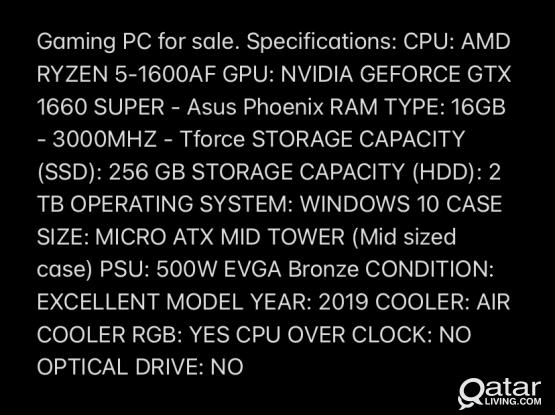 Gaming PC (Very good specs)