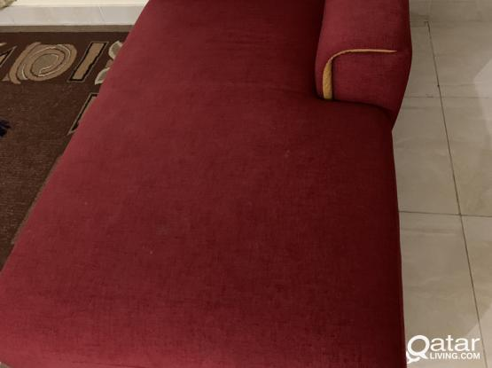 Fabric Sofa Home Center In Excellent Condition