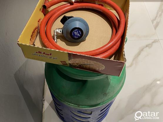 Big Cylinder with Hose & Regulator (with almost full gas)