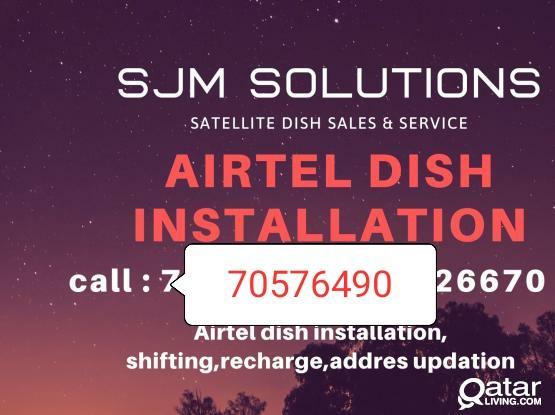 Airtel installation dish tv antenna installation and service airtel dth setup airtel technician