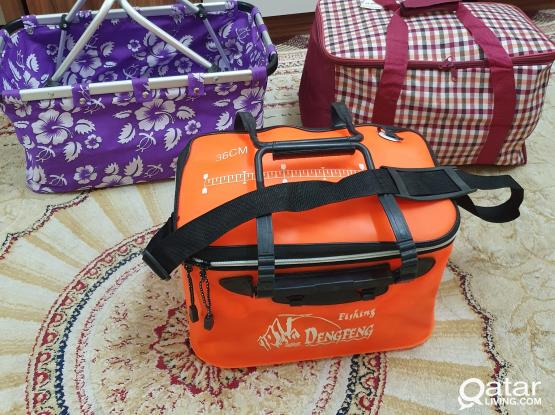 COOL BOX AND Fishing dengfeng  box for sale  ;;. NEW NOT USED ;