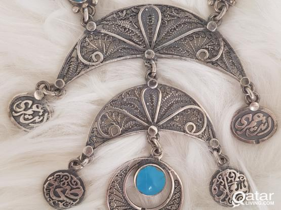 Oriental sterling silver necklace