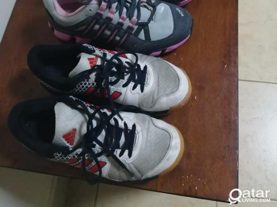 Adidas non marking shoes.., Pink Roke shoes.. Size 40