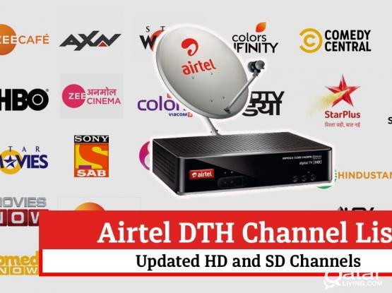 All kinds of satellites dish antenna receiver airtel receiver sale installation WhatsApp 33083167