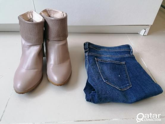 Ladies jeans and shoes