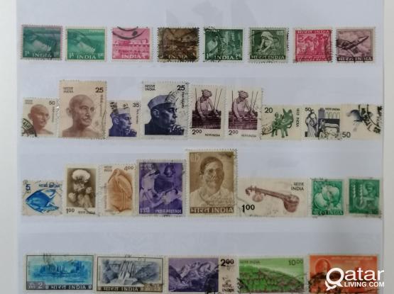 50pcs india old stamp.