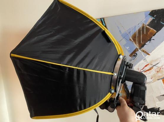 Canon Flash + Phottix Trigger + Speedbox Softbox