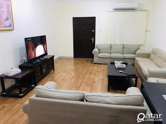 ground floor 1 bhk with backyard including w/e and internet at bin omran