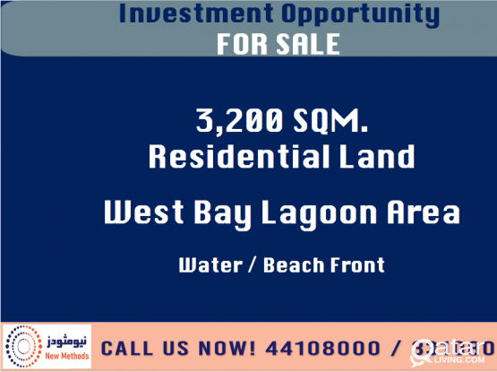 INVESTMENT OPPORTUNITY LAND AT WEST BAY LAGOON AREA - FOR SALE