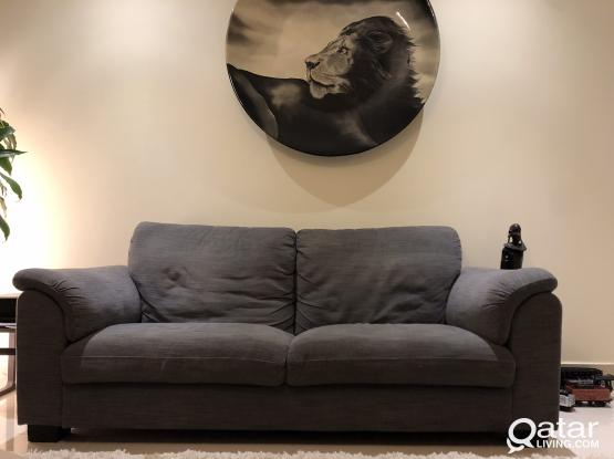 Couch/sofa IKEA 3-seater/ grey color