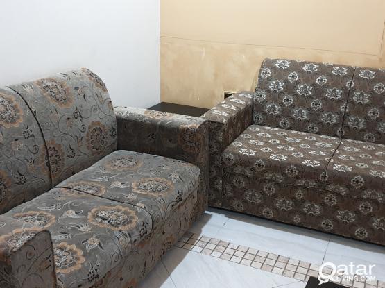 Two 2 seater sofa set