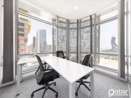 No Commission!! Rent a private Office in Marina Twin Tower