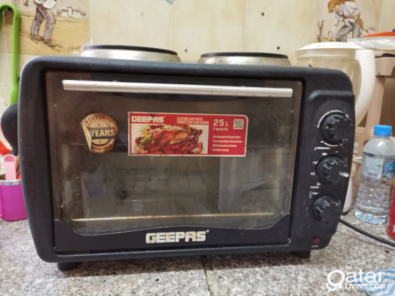 25blitre Capacity geepas Oven with 2 peaces h.p &