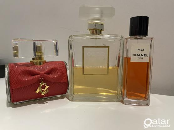 Collection of original perfumes