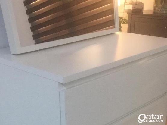 Ikea chest drawer with mirror