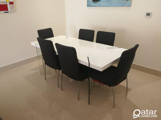 Dinning Table from HomesRus with 6 chairs
