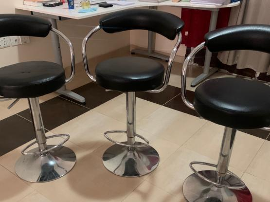 Bar Stools - Adjustable Height (3 Pieces)