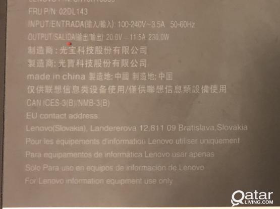 230Watts Lenovo Laptop charger
