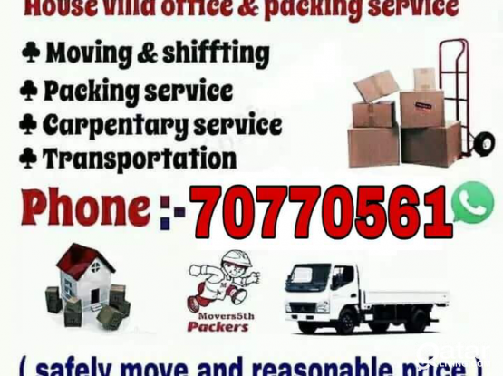 Qatar Movers/ Home Office Moving Shifting Service