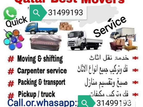 Doha movers shifting and fixing