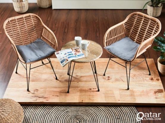 Tea Set table brown