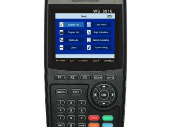 Satlink WS-6916 DVB-S/S2 HD Digital Satellite TV Finder Meter with MPEG-2/MPEG-4