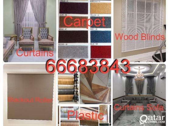 Curtains Blackout Roller Blinds Vertical Plastic PVC Vinyl Parquet Tiles Carpet Installation, Sales, New Making & Fixing.Call Me 66683843