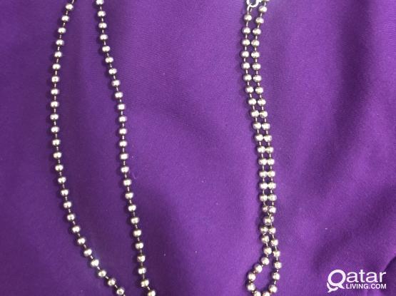 Silver legs chain