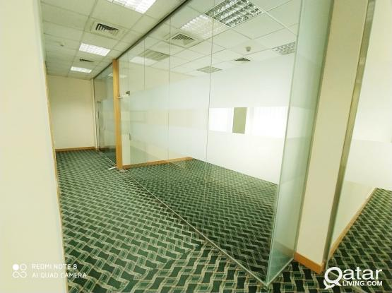 152 Sqm 4 Rooms Glass Partitioned Office in Airport Road