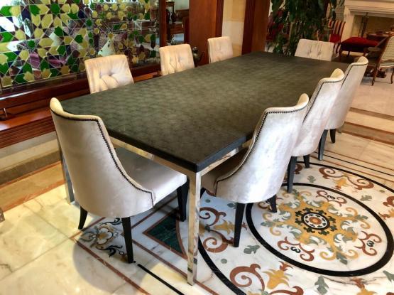 Set of Eight Indoor Dining Set
